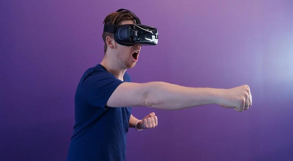 using VR headset
