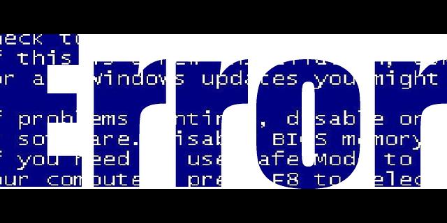 error bug blue
